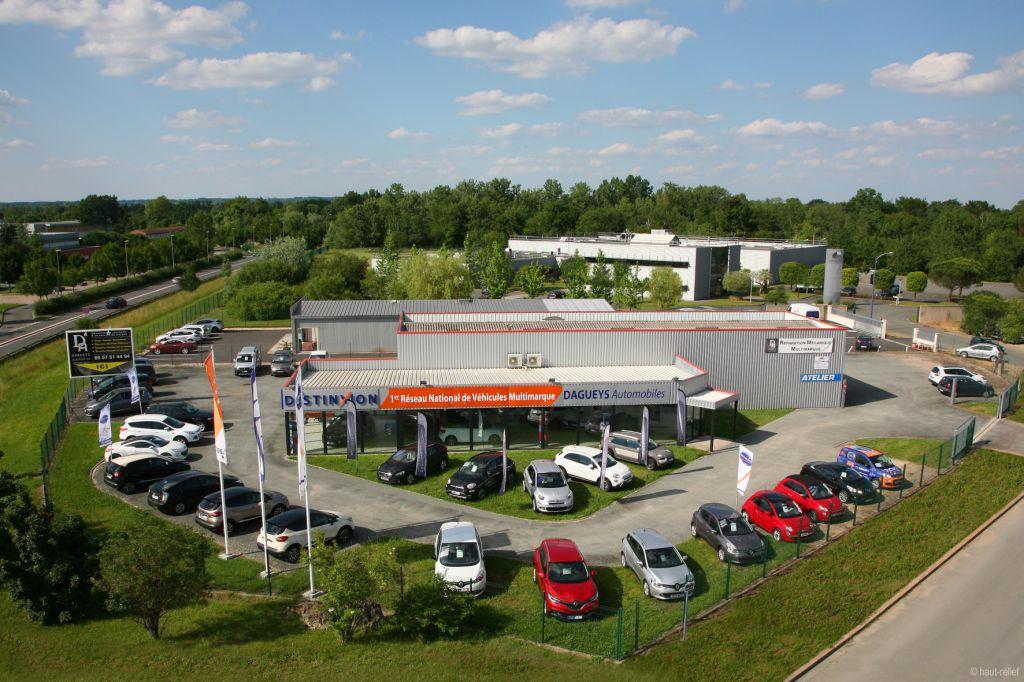 Reportages photos aériennes de garages automobiles