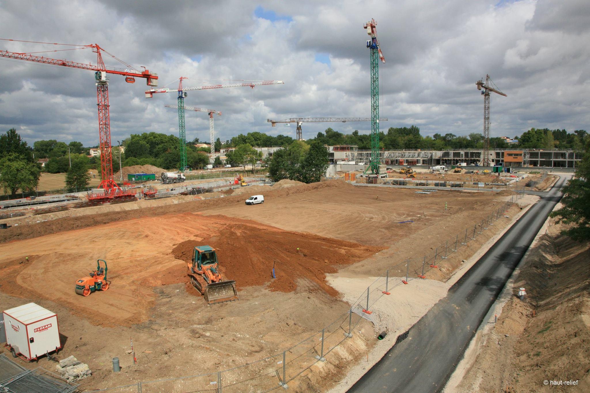 Photographie aérienne immobilier suivi de chantier