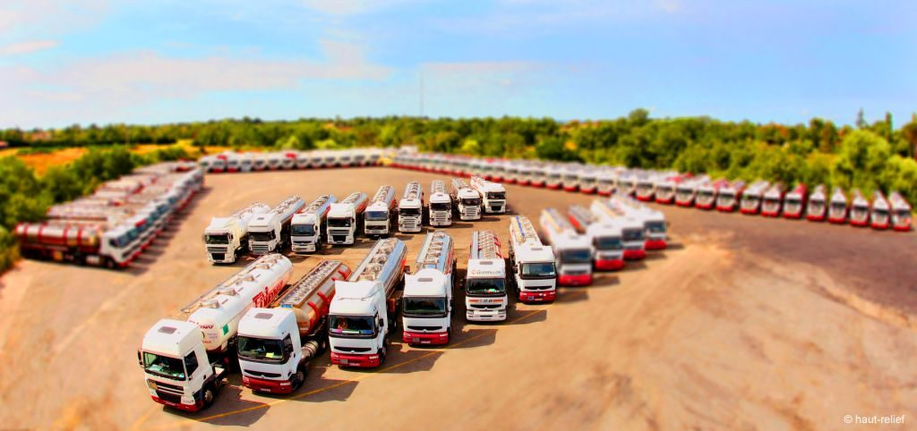 photographie Haut-Relief tiltshift transports véhicules