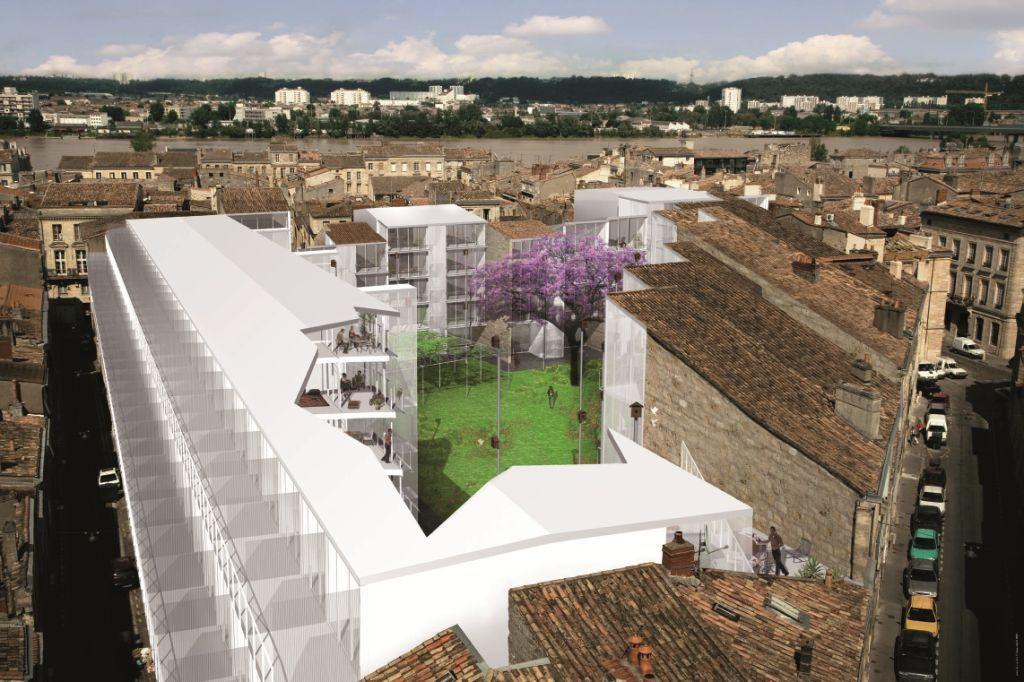Ilot urbain incrustation 3D